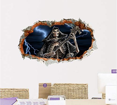 Yirenfeng Scary Halloween Wallpaper Decor 3D Ghost Wandaufkleber Für Halloween Home Decor Halloween Party Horror Wandaufkleber Dekorationen (Scary Wallpaper Halloween)