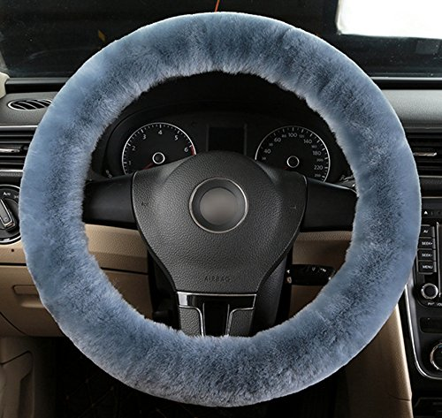 Accrie Teak Wolle Soft Lenkrad Abdeckung Guard Truck Auto Zubehör Blue Gray