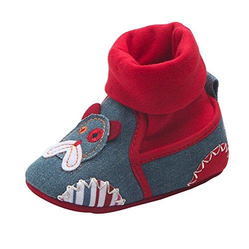 Fuibo Babyschuhe , Lovely Kleinkind erste Wanderer Baby Schuhe runde Zehe flache weiche Pantoffel Schuhe (13, B) (Ballett-zehe-hausschuhe)