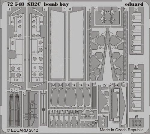 Eduard Photoetch 1:72 - SB2C Bomb Bay (Cyber Hobby)