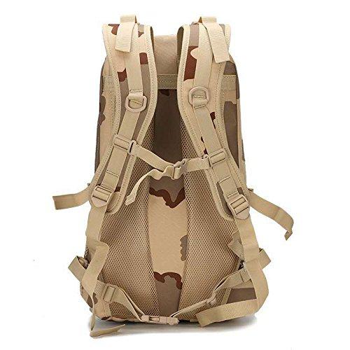 Borsa Zaino Camouflage esercito outdoor ventole doppia spalla borse per gli uomini e le donne a piedi zaino 50*37*19cm,ACU Camouflage Kaki