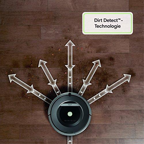 iRobot Roomba 871 Staubsaug-Roboter (mit Fernbedienung, 50% stärkere Reinigungsleistung) schwarz/grau - 4