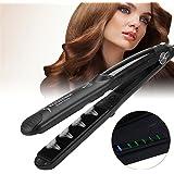 EECOO Pro Steam Flat Iron Hair Straightener Straightening Styler Salon Tool For DryWet