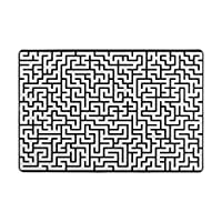 Orediy Soft Rugs Simple Maze Pattern Lightweight Area Rugs Kids Playing Floor Mat Non Slip Yoga Rug for Living Room Bedroom