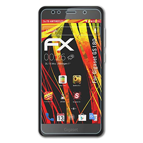 atFolix Schutzfolie kompatibel mit Gigaset GS180 Bildschirmschutzfolie, HD-Entspiegelung FX Folie (3X)