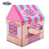 Spielzelt für Kinder Prinzessin Castle kinderspielzelt Indoor Kinder Spielhaus für Innen-& Außeneinsatz Rosa ein entzückendes Geschenk für alle Mädchen und Jungen Nice2You