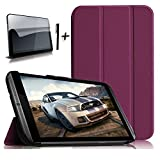Bestdeal® High Quality Ultra Slim Lightweight Smart Cover Stand Case for NVIDIA SHIELD Tablet K1 / NVIDIA SHIELD 8' inch Tablet PC + Screen Protector and Stylus Pen (NVIDIA SHIELD Tablet K1 / NVIDIA SHIELD 8', Purple)
