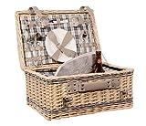 Klassischer Picknickkorb Weide mit Thermofach für 2 Personen