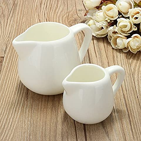 50 ml/150ml White Ceramic Milk Jug Kitchen Cuisine pouring coffee cream Sauce Cup with handle