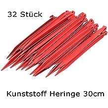 rot schlagfester Kunststoff rot 30 cm deiwo Zeltheringe Kunststoff 20er Set