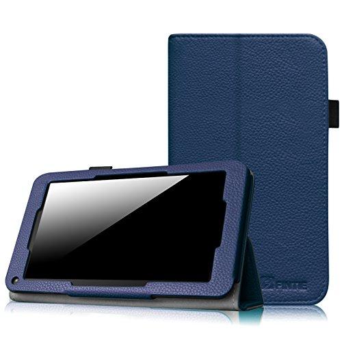 Fintie Odys Mira / LENOTAB Win / Trimeo Win Hülle Case- Slim Fit Folio Kunstleder Schutzhülle Cover Tasche mit Ständerfunktion für Odys Mira 17,8 cm (7 Zoll) X610102 / LENOTAB Win / Trimeo Win 17,8 cm (7 Zoll) Tablet-PC, Marineblau