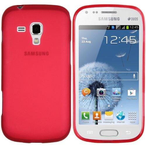 mumbi TPU Skin Case Samsung Galaxy S Duos / S Duos 2 Silikon Tasche Hülle - Silicon Protector Schutzhülle rot