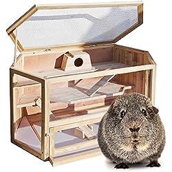 Wiltec XXL Hamsterkäfig Kleintierkäfig Mäusekäfig Nagerstall Rattenkäfig Holz Stall