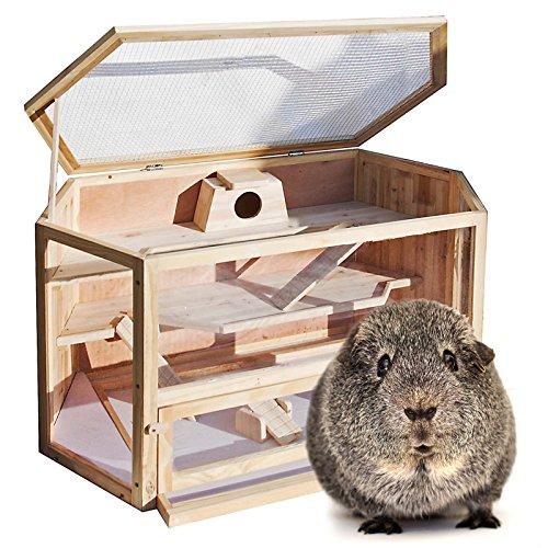 3707 XXL Hamsterkäfig Kleintierkäfig Mäusekäfig Nagerstall Rattenkäfig Holz Stall