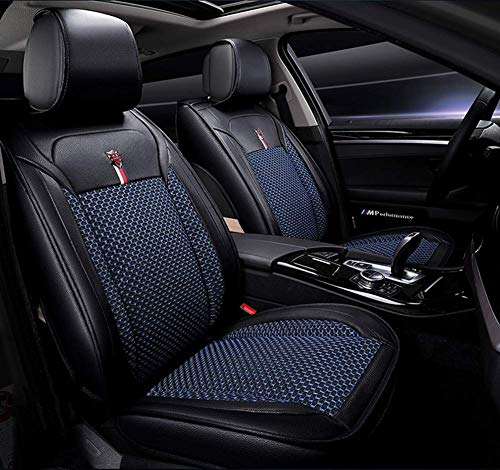 Car Seat Cover Kompatibel Mit Universal Front And Rear Ice Wire 5 Bmw Toyota Seat Cover Full Set,Blue