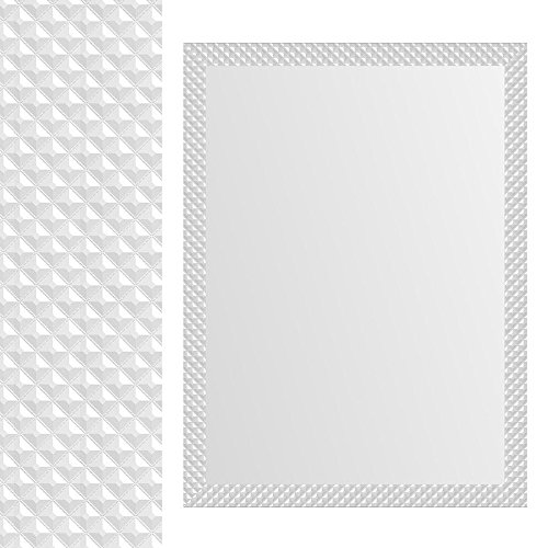 Espejo-pared-blanco-con-formas-cuadradas