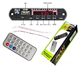 PGSA2Z MP3 Player Decoder Board Panel Support FM Radio USB SD AUX Remote Display Memory Function Amplifier - Black