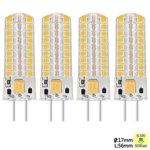 Sunix® 6.5W GY6.35 COB LED lampadina, 50W alogene lampadine equivalenti, 320LM, Dimmerabile, bianco caldo, 3000K, Angolo a fascio 360 gradi, lampadina del riflettore cristallo, pacchetto di 2 unità