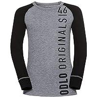 Odlo Niños SUW Top Crew Neck L/S Active Originals W Unterhemd, otoño/Invierno, Infantil, Color Black - Placed Print FW18, tamaño 140