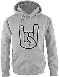 Metal-Main Rock Sweat-Shirt à Capuche pour Homme Taille s à ... a0f8c2a6ba49