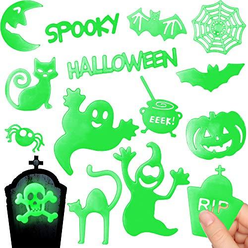 (German Trendseller - 12 x Magische Grusel Spooky Boo´s ★ Nachtleuchtend Mitgebsel ┃ Halloween Mix┃ 1 Pack / 12 Spooky Boo´s)