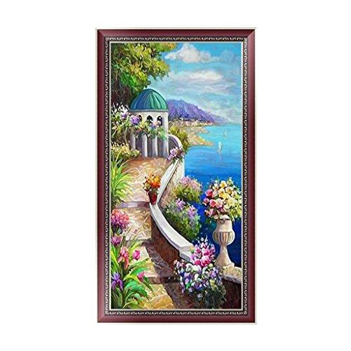 rawuin DIY 5D Diamant Stickerei Seaside Scenery Gemälde Kreuzstich Art Craft Decor (# 814)
