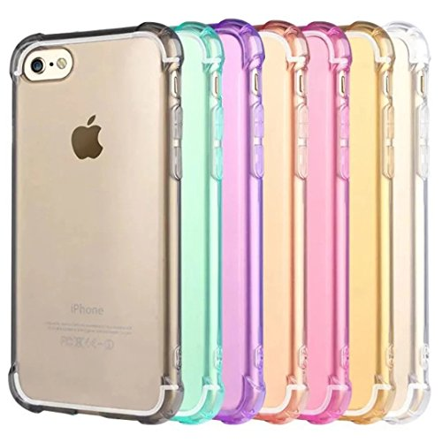 iPhone 7 Case Cover, Augus tcoco Crystal Clear assorbimento Bumper Soft TPU Ultra Slim Lightweight - Custodia Snap On Shell Protector for Iphone 7