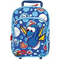 PERLETTI 13904 Disney Finding Dory Kids Trolley - Upright Suitcase with Wheels - Backpack for Kindergarten and Primary School with Nemo and Dory - 31x26x13 cm - Blue