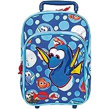 Perletti - Trolley de niño Buscando a Dory Disney - Mochila con ruedas y correas para con estampado de Nemo y Dory - 31 x 23,5 x 13 cm