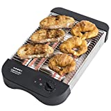 tostadora plana de 600 W para pan empanizado o cualquier tipo de comestibles, 6 niveles, bandeja recolectora y recogebles. Easy Toast Basic by Cecotec.