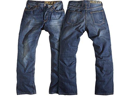 Rokker Original Motorrad Jeans mit Reißverschluss, 33/34
