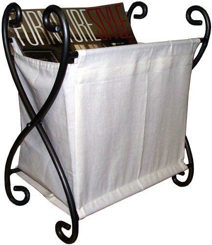 PTC Home & Garden Joker Magazine Rack with Canvas, Pewter by PTC (Ptc-rack)