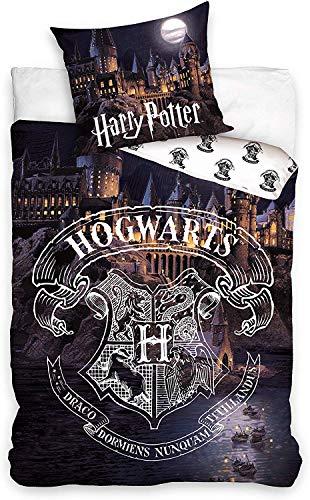 Carbotex Bettwäsche, funktionell, 140 x 200 cm, Hogwarts kompatibel mit Harry Potter