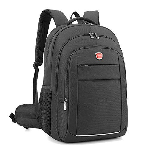 CoolBell 17,3 Zoll Laptop Rucksack Schulrucksack Reise Rucksack/wasserdicht Knapsack/Schützende Tagestasche für Damen/Herren(Schwarz)