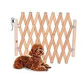 MoneRffi Holzfarbe Einfache Installation Haustier Isolierung Tür Holz Zaun Hund Schiebetür