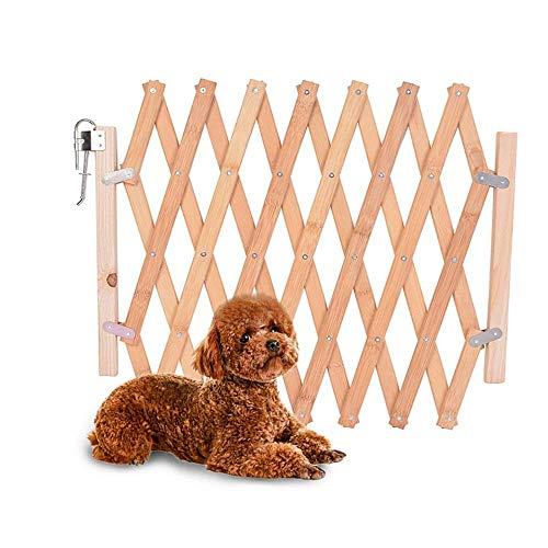Barrera de seguridad para mascotas de perros pequeños Barrera extensible doméstica de madera (A)