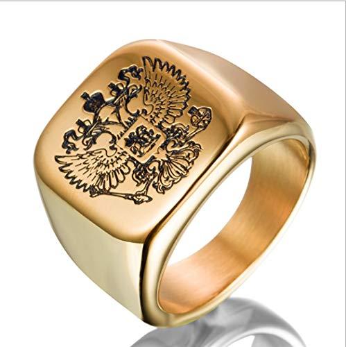 Yoyoyaya anelli uomini badge totem eagles sculture acciaio inox donne coppie ornamenti squisita doni,sette