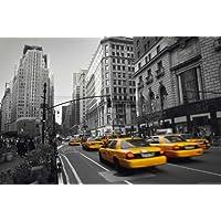 NEW YORK–Póster de taxi amarillo 5th + Póster sorpresa