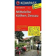 Mittelelbe - Köthen - Dessau: Fahrradkarte. GPS-genau. 1:70000 (KOMPASS-Fahrradkarten Deutschland, Band 3044)