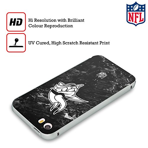 Ufficiale NFL LED 2017/18 Minnesota Vikings Argento Cover Contorno con Bumper in Alluminio per Apple iPhone 5 / 5s / SE Marmo