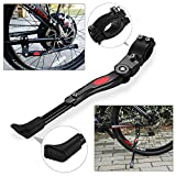 E-More Bike Kickstand, Aluminum Alloy Bicycle Side Kick Stand, Adjustable Height Cycling Rear