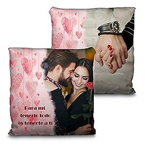 LolaPix Cojin Enamorados Personalizado con