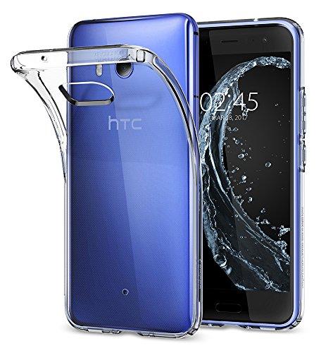 HTC U11 Hülle, Spigen® [Liquid Crystal] Soft Flex Silikon [Crystal Clear] Transparent Ultra Dünn Schlank BumperStyle Handyhülle Premium Kratzfest TPU Durchsichtige Schutzhülle für HTC U11 Case Cover Crystal Clear (H11CS21939)