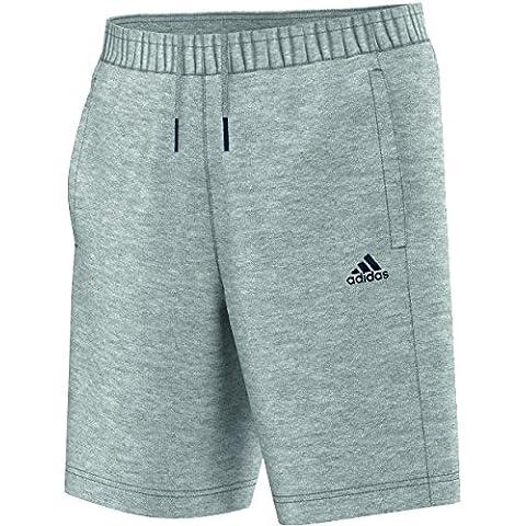adidas, Pantaloni corti Uomo Essentials, Grigio (Medium Grey Heather/Collegiate Navy), XXXL