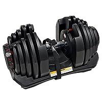 Bowflex Unisex Adult Bowflex 1090I Selecttech Adjustable Dumbbells(Single) - Black/Grey, Standard