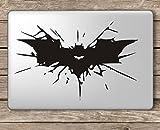 Best Laptop Decals - CVANU Batman Cracked Symbol Laptop Vinyl Sticker (Black) Review