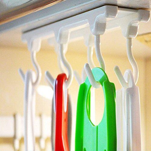 VWH unter Regal Wein Glas Halter Tasse Rack Kleiderbügel Schrank Haken zum Aufhängen unter Schrank...