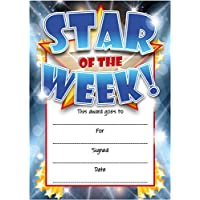 Star Of The Week Reward Certificate Cards by Sticker Time (16 pack BLUE)