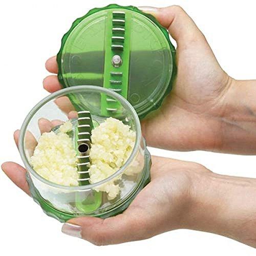 Garlic Chopper E-Zee-Dice perfectly chop garlic in seconds.