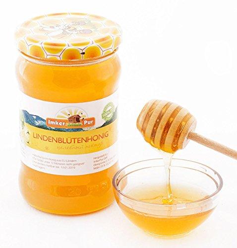 Mensch Bio-bienenwachs (ImkerPur® Lindenblüten-Honig, 400g, zart-blumig, mit einer frischen Minz-Note)